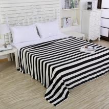 Flannel Rayas Blanco/Negro
